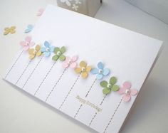 Blush Crafts: Less is More with punches...luv the way she used the hydrangea punch with a bit of sewing and tiny pearls...