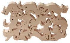 Wild Random Cats  Wooden Toys (Ginga Kobo Toys) Japan
