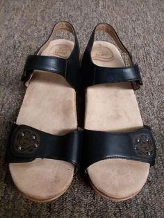 878cc8a0a Dansko Black Leather Women s Sandals Size 39  fashion  clothing  shoes   accessories