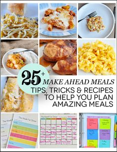 Over 25 Tips, Tricks & Recipes for Make Ahead Meals - perfect for busy nights!