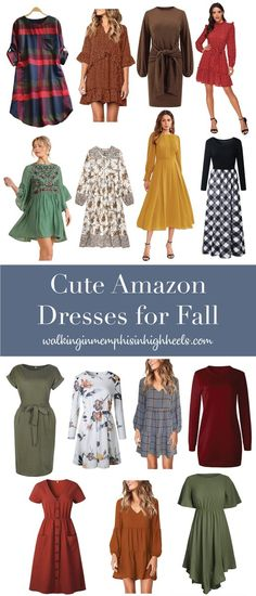 Fall is officially upon us here in the South! We've had quite a few days with really cool, and beautiful temperatures 🍁 I've rounded up some of the cutest dresses I could find from Amazon 🛍️