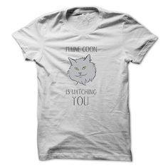 """Cat Shirts - """"Maine Coon is watching you"""" #catshirts #mainecooncatshirts"""