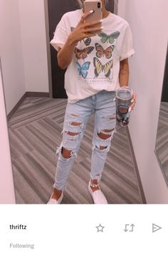 Cute Teen Outfits, Cute Outfits For School, Teenage Girl Outfits, Cute Comfy Outfits, Teen Fashion Outfits, Retro Outfits, Look Fashion, New Outfits, Stylish Outfits