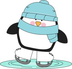 Penguin Skating on Ice