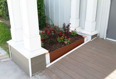 Here's a doable DIY project for your yard. This planter box I'm going to demonstrate this week is made from Inteplast Building Products Fascia Board and Corner Board. This project is a no brainer for you DIY pros out there, and a great beginner project fo Planter Boxes, Planters, Fascia Board, Building Products, Moldings And Trim, Make Your Own, How To Make, Next Door, Step By Step Instructions