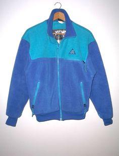 EUC Rare Nike Vintage ACG St. Helens Full Zip Fleece Jacket S Blue Turquoise #NikeACG #FleeceJacket