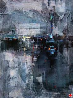 Blue Dusk by Tibor Nagy Oil ~ 16 x 12