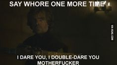 Tyrion high as f**k, plays Samuel Jackson and s**t...
