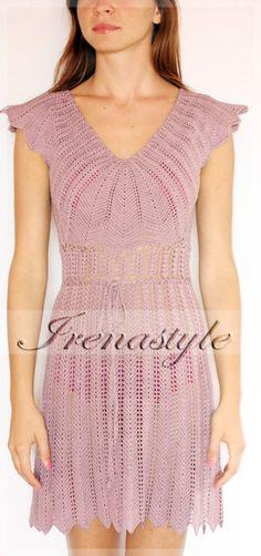 Crochet Dress  custom made hand made crochet  100 by Irenastyle, $399.00