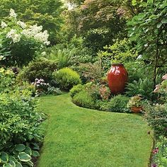 Lush Look, Less Lawn is part of Beautiful garden Design - Get more planting space by shrinking your turf Six tips from a Northwest garden Beautiful Backyards, Beautiful Gardens, Country Gardening, Dream Garden, Northwest Garden, Gorgeous Gardens, French Country Garden, Outdoor Gardens, Landscape Design