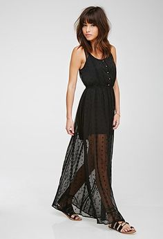 Embroidered Gauze Maxi Dress | Forever 21 - 2000132497