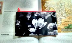 Pencil Case/Makeup Bag Hipster Nerd Pencil by CandyMountainPhotos, Black And White Flowers, White Tulips, Tulips Flowers, Zipper Pouch, Cosmetic Bag, Nerd, Pencil, Hipster, Makeup