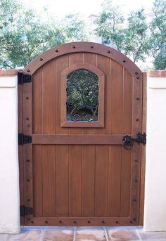 arched gates | Wood Gates - Arched - Yard - Driveway Gates - Custom Redwood - See ...