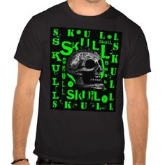 Skull - Green #skull #halloween  http://www.zazzle.com/monstersandthings?rf=238806092629186307