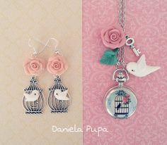 Jewelry made of polymer clay and jewelry findings by Daniela Pupa.