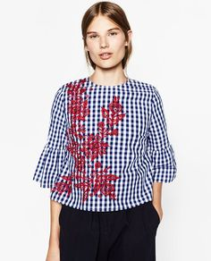 When two trends (gingham and embroidery) become one, the result is, well, magic.Zara Embroidered Checkered Top, $49.90, available at Zara. #refinery29 http://www.refinery29.com/best-zara-clothing-shop-now#slide-2