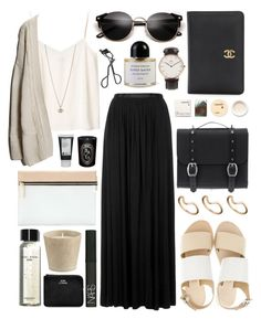 """declarations"" by jesicacecillia ❤ liked on Polyvore featuring Sol Sana, Victoria Beckham, Monki, Minor Obsessions, Korres, Byredo, Topshop, Danielle Foster, Diptyque and MAC Cosmetics"