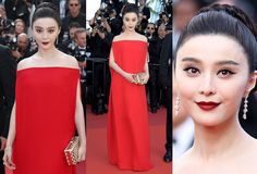 Fan Bingbing  Valentino Cannes 2017 red dress
