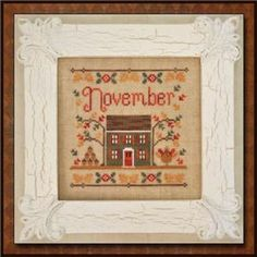 Embroidery.com: Cottage Of The Month- November XS Pattern: Hand Embroidery