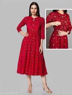 Kurtis & Kurtas Alisha Attractive MaternityKurtis Fabric: Rayon Sleeve Length: Three-Quarter Sleeves Pattern: Colorblocked Combo of: Single Sizes: S (Bust Size: 18 in, Size Length: 48 in)  XL (Bust Size: 21 in, Size Length: 48 in)  L (Bust Size: 20 in, Size Length: 48 in)  M (Bust Size: 19 in, Size Length: 48 in)  XXXL (Bust Size: 23 in, Size Length: 48 in)  XXL (Bust Size: 22 in, Size Length: 48 in)  Country of Origin: India Sizes Available: S, M, L, XL, XXL, XXXL   Catalog Rating: ★4.1 (685)  Catalog Name: Abhisarika Alluring Maternity Kurtis and Feeding Kurtis with 2 sided zip CatalogID_2618112 C74-SC1001 Code: 946-13356558-