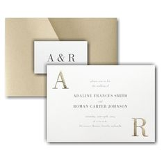 Corner Initials Pocket Wedding Invitation Icon Discount Wedding Invitations, Pocket Wedding Invitations, Online Fonts, Lettering Styles, Matching Cards, Response Cards, Foil Stamping, Wedding Cards, Initials