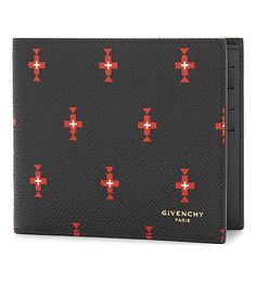 GIVENCHY Totem Cross Leather Billfold Wallet. #givenchy #bags #wallets