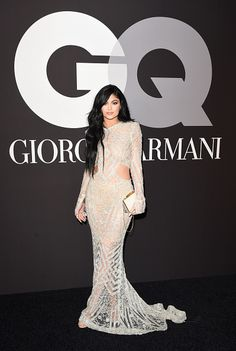 02.08.15: Kylie at GQ and Giorgio Armani's The Grammys After-Party