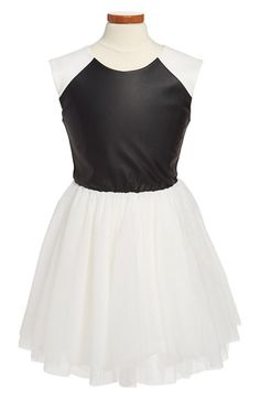 Miss Behave 'Talia' Tulle Skirt Skater Dress (Big Girls) available at #Nordstrom