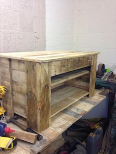 Pallet Wood Console Table / TV Stand | Pallet Furniture DIY