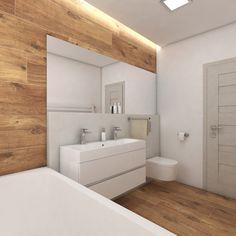 Moderní koupelna BUENO - vizualizace Bathroom Design Inspiration, Bathroom Interior Design, Exterior Design, Interior And Exterior, Cottage Design, Future House, Sweet Home, Bathtub, Construction