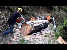 Распил дерева на месте - YouTube
