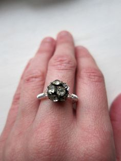 Vintage Crystal Ball Ring by swirlsisters on Etsy, $10.00