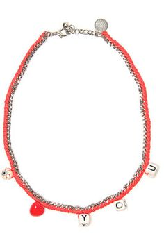 Venessa Arizaga Love You Necklace #earrings #statement #15things #fashion #trend #love #necklace