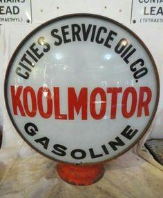 Original Cities Service Koolmotor Gas Globe
