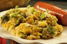 Brocolli, cheese and rice casserole from scratch! No canned soup or processed cheeses.