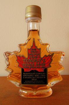 50ml leaf shape maple syrup favour