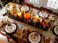 Decoracion de mesa para cena de Thanksgiving - CASAS IDEAS