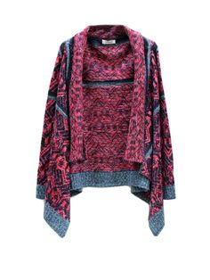 Fashion Geometric Asymmetrical Knitted Cardigans