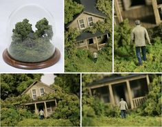 check out Thomas Doyle's miniature worlds. Truly mesmerizing.
