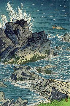 """Japanese Art Print """"Cape Inubozaki"""" by Kasamatsu Shiro. Shin Hanga and Art Reproductions http://www.amazon.com/dp/B012I7M5WS/ref=cm_sw_r_pi_dp_dh9twb07X1ZTW"""
