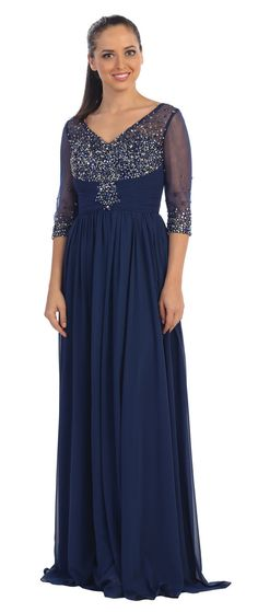 Floor Length V Neck formal gown Wedding Guest, Mother of the Bride Groom Dress Navy Mother of the Bride Dress Mother Of Groom Outfits, Mother Of The Bride Trouser Suits, Mother Of The Bride Dresses Long, Black Formal Gown, Long Formal Gowns, Formal Dresses, Military Ball Gowns, Womens Linen Clothing, Plus Size Gowns