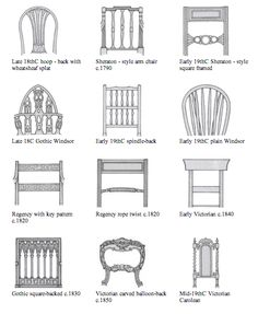Identifying antique furniture and styles