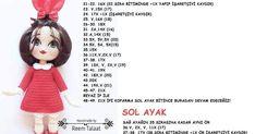 Amigrumi Tarifleri Crochet Baby Socks, Crochet Baby Mobiles, Crochet Dolls Free Patterns, Crochet Keychain, Amigurumi Toys, Barbie, Teddy Bear, Stitch, Animals
