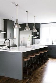 Cool Dark Grey Kitchen Design Ideas 35