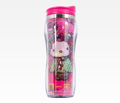 Hello Kitty Stainless Steel Mug: Nugeisha Pink - I love Nihonjin Hello Kitty!  Kawaii desu ne?