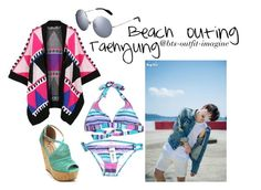 """""""V beach"""" by ewaporter ❤ liked on Polyvore featuring moda, Billabong y WithChic"""