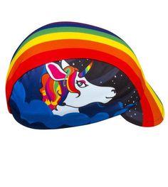 1c7c3d51 Aero Tech Rush Cycling Caps - Rainbow One of a Kind - Bicycling Unicorn