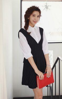 #다홍 #원피스 #스트라이프 #미니원피스 #dahong #dress #stripe