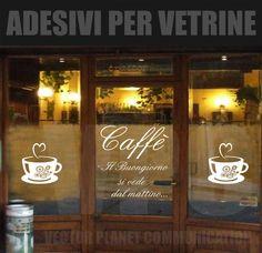 wallstickers tazza bar caffe' caffè vetrofanie adesivi per vetrine o muri   eBay