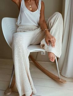 Summer Fashion Tips Solid Ribbed Casual Wide Leg Pants - shopingnova.Summer Fashion Tips Solid Ribbed Casual Wide Leg Pants - shopingnova Mode Outfits, Casual Outfits, Jean Outfits, Hijab Casual, Club Outfits, Girly Outfits, Sweater Outfits, School Outfits, Dress Outfits